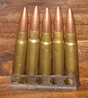 5 round clip of FMJ .303
