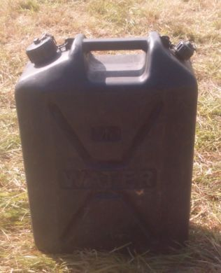 25 ltr water container. Black Plastic