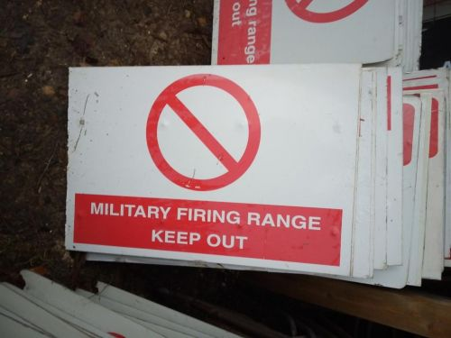 Military Range Keep out