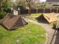 WW 2 type pup tents