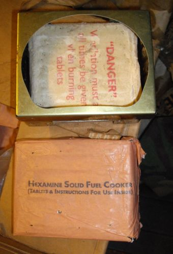 Hexamine cooker British army issue