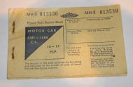 Fuel ration card