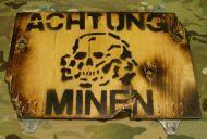 German Achtung Minen